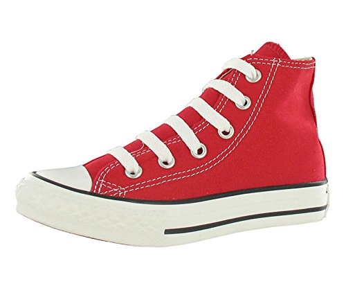 Converse Unisex-Kinder Chuck Taylor All Star Hi Hohe Sneakers, Rot (Red), 27 EU