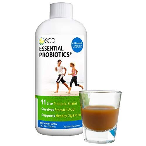 SCD Probiotics - Essential Probiotics with 11 Live Strains, Survives Stomach Acid, Promotes Regularity, Liquid Probiotic Supplement for Men, Women, Kids and Toddlers - 16.3 fl oz, 30 day supply