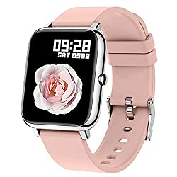 Image of Smart Watch, Popglory Smartwatch with Blood Pressure, Blood Oxygen Monitor, Fitness Tracker with Heart Rate Monitor, Full Touch Fitness Watch Compatible with Android & iOS for Men Women: Bestviewsreviews