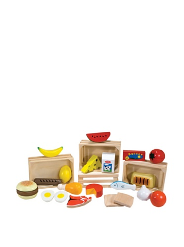 Melissa & Doug- Food Groups Set Comida de Juguete de Madera, Multicolor, 3+ (271)