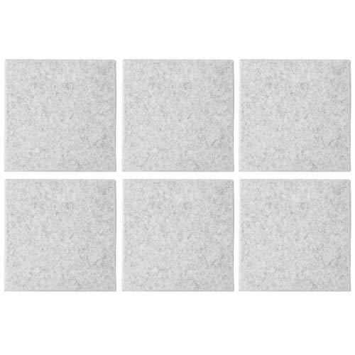 Tableros absorbentes de sonido Vbest Life, 6 paneles de absorción acústica de fibra de poliéster para tratamiento acústico de aislamiento de graves y eco y decoración de paredes(Gris-plata)