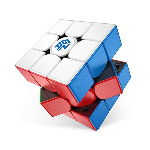 GAN 11 M Pro, 3x3 Cubo de Velocidad Magnético, Cubo Magico Juguete Rompecabezas Cubo Sin Pegatinas Superficie Esmerilada (Negro Interno)