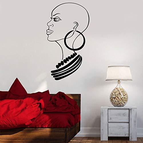 wZUN Afrikanische Mädchen große Frau Wandaufkleber Vinyl Wohnkultur Wohnzimmer Schlafzimmer Sofa Hintergrund Aufkleber Tapete 57x103cm