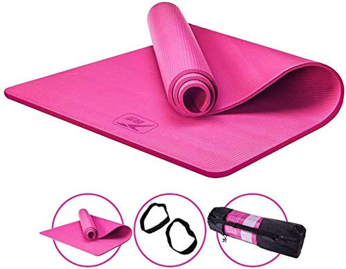 Yoga Mat Extension Thicken Anti-Slip Beginner Training Mat, SGS certificering Environmental Protection NBR Fitness Mat geschikt voor yoga en andere sporten,1,185cm*80cm*15CM