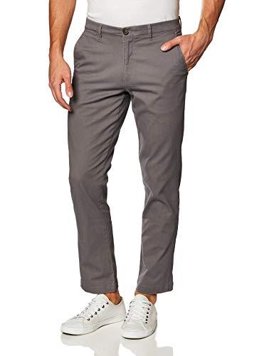 Amazon Essentials Men's Slim-Fit Casual Stretch Khaki, Dark Grey, 34W x 30L