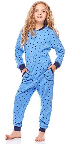Merry Style Mädchen Schlafstrampler Strampelanzug MS10-186 (BlauePunkteMarine, 110-116)