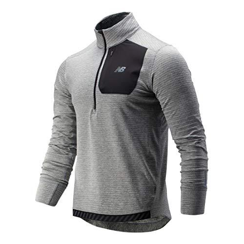 New Balance Men's NB Heat Quarter Zip, Athletic Grey, Small