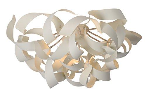 Lucide 13110/26/31 Atoma Plafonnier 28 W 6 x G9 230 V Hauteur: 35 cm Diamètre: 58 cm Blanc