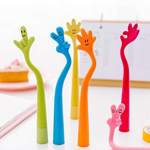 GUDOTRA 30pcs Bolígrafos de Dedo Bolígrafo Kawaii Detalles Regalo para Estudiante Niños de Cumpleanos Navidad (Estilo4)