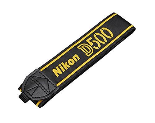 Nikon AN-DC17Cinghia a tracolla per Nikon D500, originale, nero/giallo