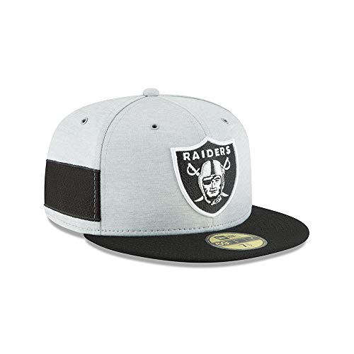 New Era 5950 Onf18 SL Hm Oakrai Gorra Línea Oakland Raiders, Unisex Adulto, Black, 7 1/8