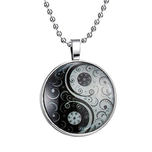 Feilok Klassik Yin Yang Muster Leuchtend Anhänger Halskette, Blaue Leuchtende Farbe