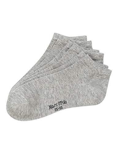 Marc O'Polo Body und Beach Damen Multipack W-sneaker 3-pack Socken, Grau, 39-42 EU