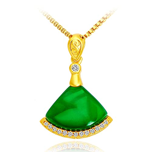 Colgante De Falda Pequeña Temperamento Verde esmeralda (colgante individual)