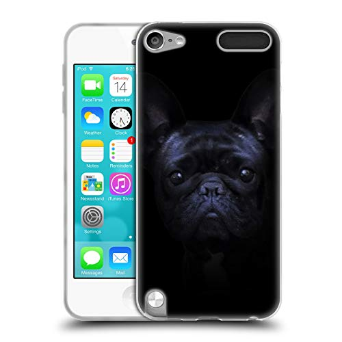 Head Case Designs Officially Licensed Klaudia Senator Darkness French Bulldog 2 Soft Gel Case Compatible with Apple iPod Touch 5G 5th Gen