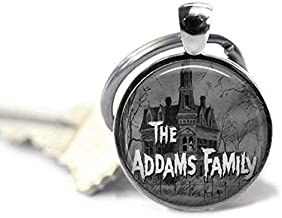 The Addams Family 1 Inch Silver Plated Pendant Keychain