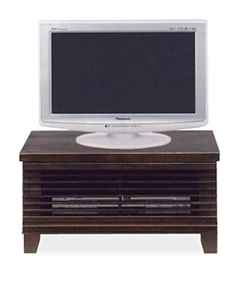 ぼかし和解する手綱和風モダン 2色対応 幅60cm ロータイプテレビボード 脚付き 完成品 (ブラウン)