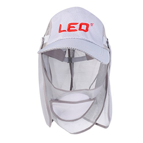 MagiDeal Bonnet de Protection Anti-UV Unisexe Capuchon de Pêche en Plein Air Chapeau de Pêche Pliant Léger Respirant