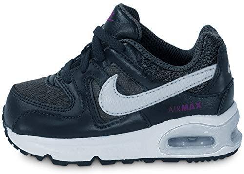 Nike Baby Jungen Air Max Command (TD) Lauflernschuhe, Schwarz/Weiß/Violett (Anthrazit/Weiß-Vivid Purple), 23 1/2 EU
