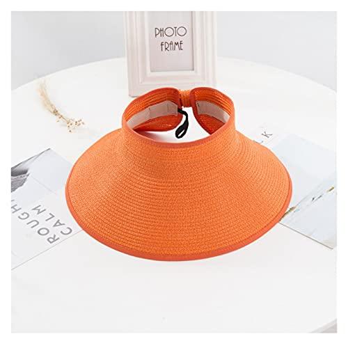 Sombrero para el sol Mujeres Visores de verano Sombrero Sombrero Plegable Sombrero de sol grande BRIM BREAD GORROS GORROS DE PEQUEÑA Sombrero de la paja Gorros del Sol ( Color : B , Size : One Size )