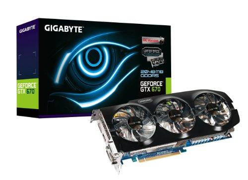 GIGABYTE GV-N670OC-2GD GeForce GTX 670 Windforce OC 2048MB GDDR5 256-bit PCI Express 3.0 x16 HDCP Ready SLI Support Graphics Card