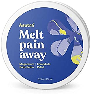 ASUTRA Magnesium Body Butter Lotion, 6.76 oz   Relieve Muscle Cramps   Fight Joint Pain   Stress & Anxiety Relief   Eczema Soothing Cream   Promote Healthy Sleep w/Calming Lemongrass