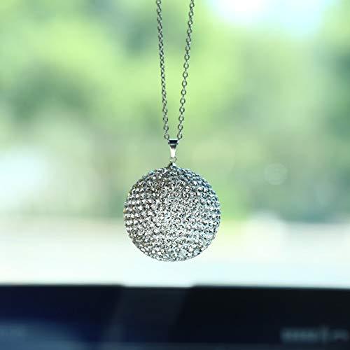Colgante de Bola de Diamante de Cristal Colgante De Coche Cristal Diamante Accesorios de Coche Colgantes de Coche Decoración del Espejo del Coche Ornamento Colgante Adornos Charm Decoración Auto