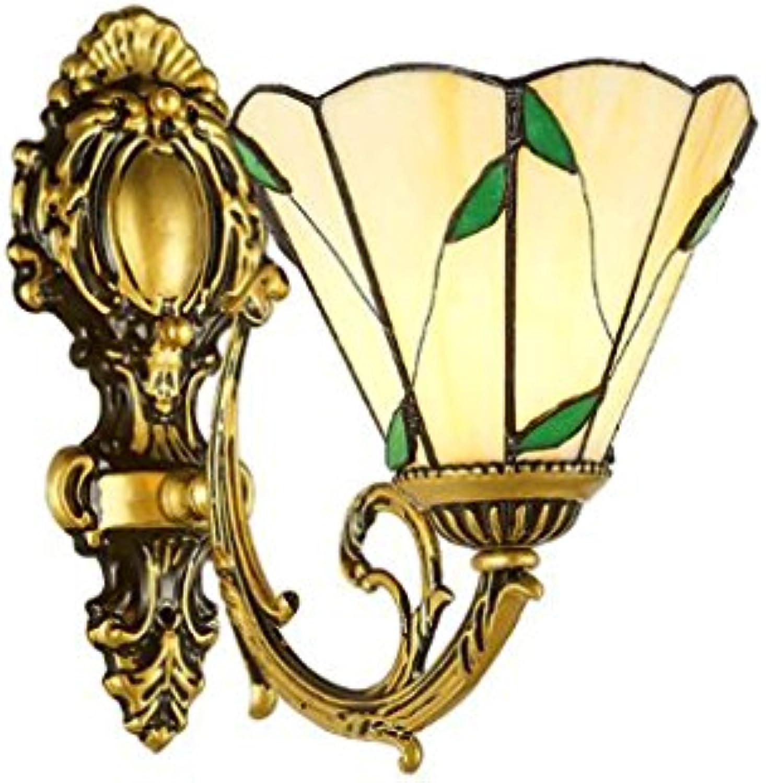 Wandleuchten ZHAOJNG Retro Wohnzimmer Einfache Pastoralen Hintergrund Gang Schlafzimmer Nachttischlampe Spiegel Vordere Lampen Vintage E27 (Farbe   A)