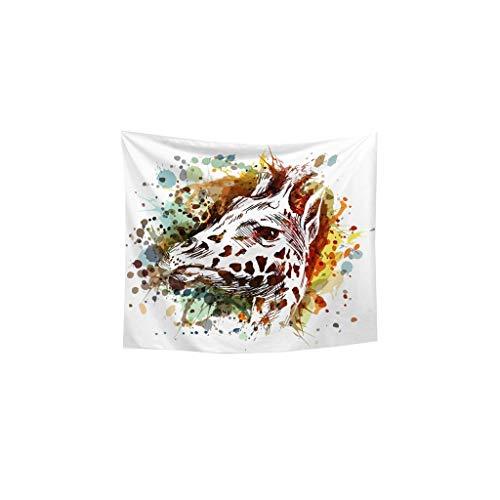 Familia Acuarela del Animal Que cuelga del Fondo del paño decoración del Dormitorio Cambio de Imagen de la tapicería del sofá decoración de Fondo Cuadros Decorativos (Color : B, Size : 100cm*70cm)