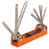 TRUPER TORX-8 8-in-1 Folding Torx Key Set,...