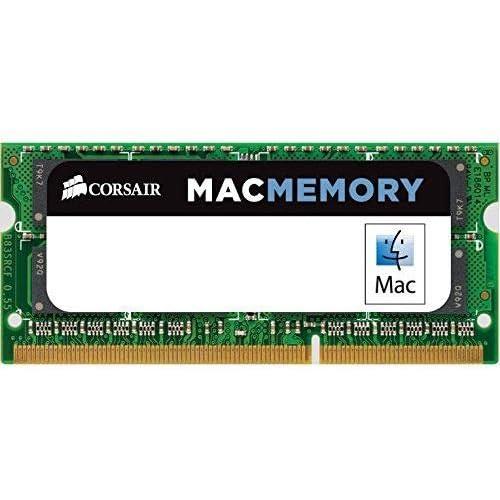 Corsair CMSA4GX3M1A1333C9 Apple Mac 4GB (1x4GB) DDR3 1333Mhz CL9 Mémoire pour ordinateur portable SODIMM pour produits Apple.