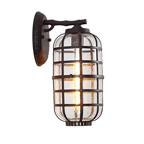 Lámpara de Pared Lámpara de pared de la lámpara retro retro del viento Industrial Exterior Puerta linterna lámpara de pared exterior Terraza Vidrio de Sun Lámpara de habitaciones Aplique de pared