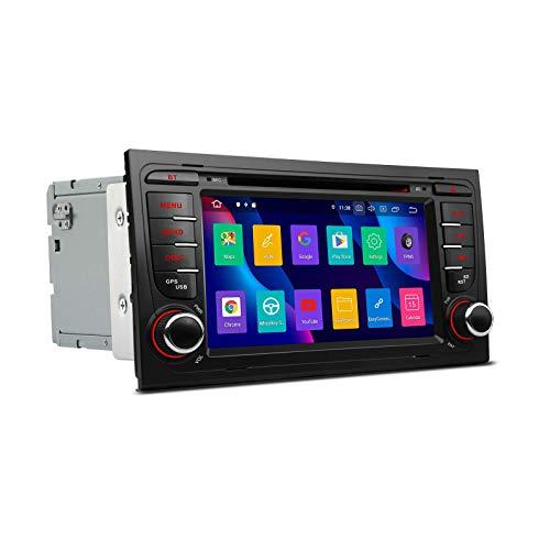 JIBO para Au di A4 B6 (8E/8H) 2000-2006 Android 9.0 Estéreo GPS Navegación Cabeza Unidad 7' Tocar Pantalla Multimedia Jugador Nav Sat SWC Teléfono Control Auto Radio Video Receptor
