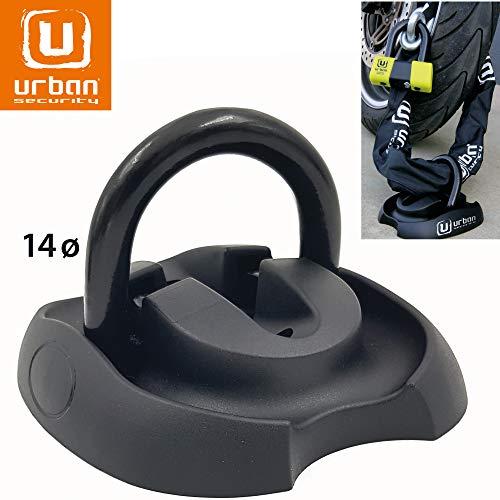 Urban Security UR55 Anclaje Suelo Moto Anilla Acero basculante ø14 con Tacos fijación Alta Seguridad