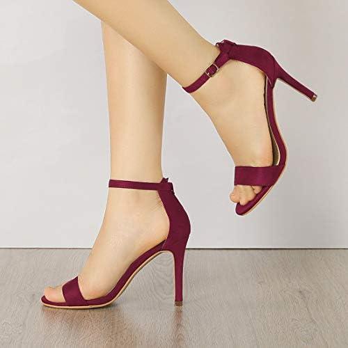 Burgundy high heel shoes _image0