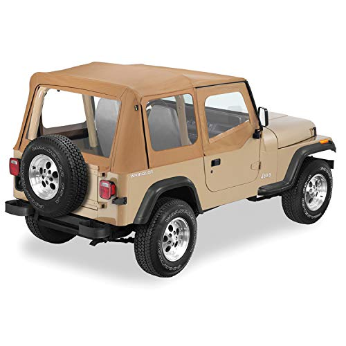 Pavement Ends by Bestop 51130-37 Spice Replay Replacement Soft Top Clear Windows w/Upper Door Skins for 1988-1995 Jeep Wrangler