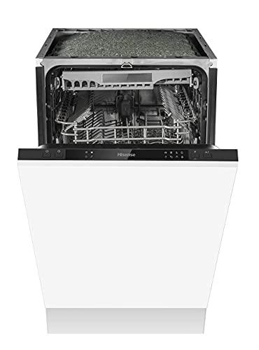 Hisense HV520E40UK 45cm, 11 Place, 5 Programmes, Slimline, Built in, Fully Integrated White Dishwasher