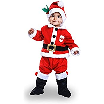 Disfraz de Papa Noel para bebé: Amazon.es: Juguetes y juegos