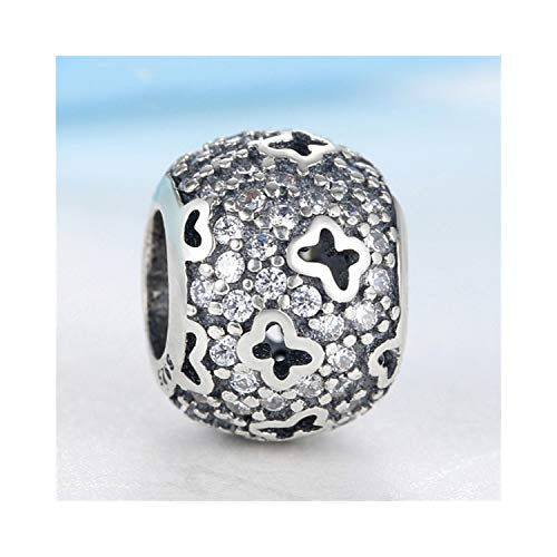 CNSP Original 925 Sterling Silver Beads Charm Love Animal Pet Paw Queen Bee Crystal Charms Fit Bracelets Women DIY Jewelry Butterfly Crystal