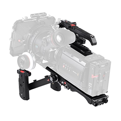 JTZ DP30 Kamera Base plate Schulter Stützhandgriff Rig 15mm Rod KIT Für Blackmagic URSA MINI 4K 4.6K EF PL Cinema