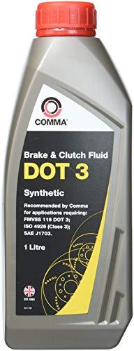 Comma BF1L Dot 3 Synthetische Bremsflüssigkeit, 1l
