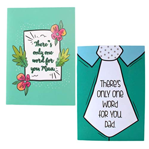 Oye Happy - Mom and dad Greeting Card - Mirror Card for Parents to Gift on Birthday/Anniversary