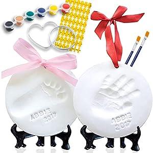 Set para Modelado de Huellas de Bebé - Kit de Impresión de Manos y Pies en Arcilla para Recién Nacidos. Incluye: Soportes, Cintas y Letras – Regalo Original para Baby Shower y Nacimientos