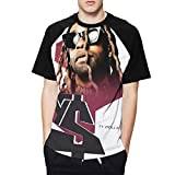 MarjoeAFloyd Ty Dolla Sign Shirt Men's 3D Printing Raglan Baseball Short Sleeve Round Neck T-Shirt Summer Tee Shirt Medium Black