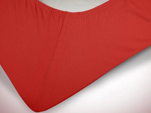 #12 npluseins Kinder-Spannbettlaken, Spannbetttuch, Bettlaken, 70×140 cm, Rot - 6