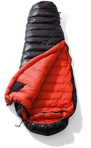 YETI VIB 400, Black/Fiery Red Daunenschlafsack Schlafsack, Größe L