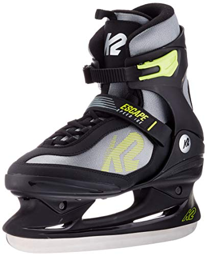 K2 Skates Herren Schlittschuhe Escape Speed Ice M — black - grey - yellow — EU: 42 (UK: 8 / US: 9) — 25C0110