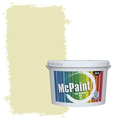 McPaint Bunte Wandfarbe Pistazie - 10 Liter - Weitere Grüne Farbtöne Erhältlich - Weitere Größen Verfügbar
