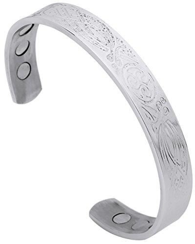 Lemegeton Triskele Spirale Symbol Irish Talisman Edelstahl Armbänder Armreifen