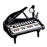 Toy Piano for Kids - Birthday Gift for 3 4 5 Year Old - Educational Piano Musical Instrument Toys - Black Keyboard for Child with Built-in Microphone 24 Keys (Toy)